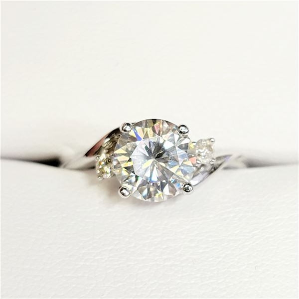 10K  DIAMOND(0.08CT) MOISSANITE(1.6CT) RING