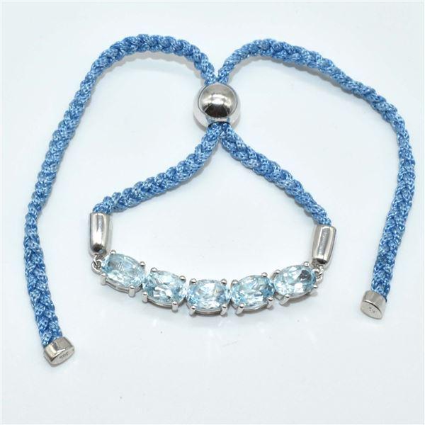 SILVER BLUE TOPAZ(5.4CT) BRACELET