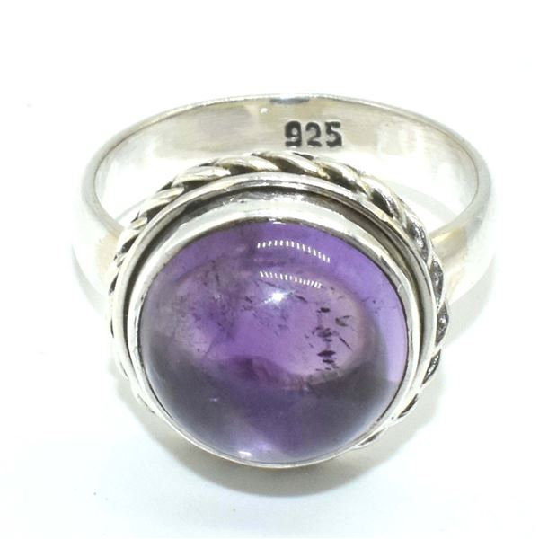 SILVER AMETHYST(5.5CT) RING SIZE 6.5