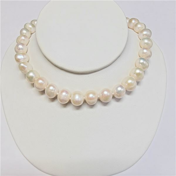 """SILVER F.W PEARLS(40CT) NECKLACE 16"""""""