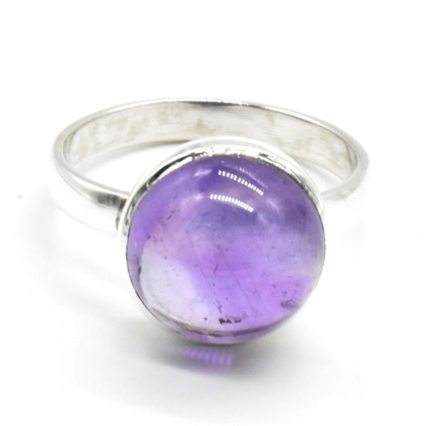 SILVER AMETHYST(8.3CT) RING SIZE 10