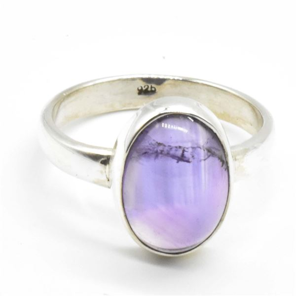 SILVER AMETHYST(5.75CT) RING SIZE 10