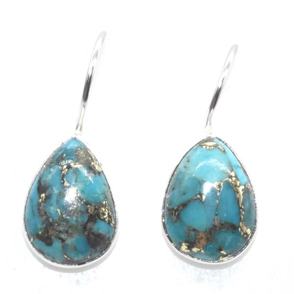 SILVER COPPER  MUHAVE TURQUOISE(8.95CT) EARRINGS