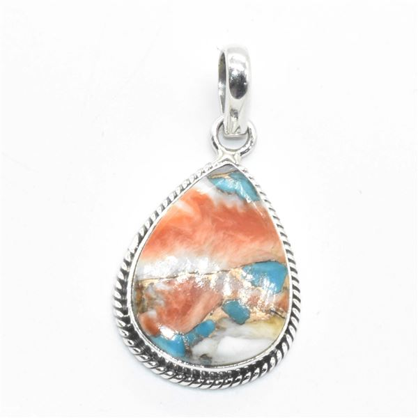 SILVER OSTER MUHAVE TURQUOISE(10.35CT) PENDANT