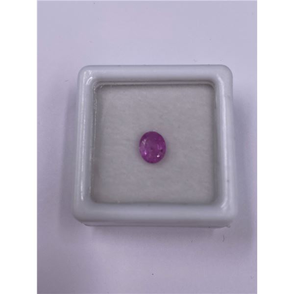 NATURAL PINK SAPPHIRE 0.77CT, 6.05 X 4.91 X 2.63MM, OVAL CUT, VVS, MADAGASCAR, UNTREATED