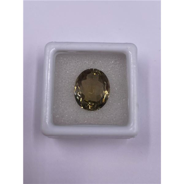 IMPERIAL TOPAZ 7.68CT, 14 X 11.5 X 7MM, OVAL CUT, LOUPE CLEAN CLARITY, PAKISTAN, UNHEATED AND