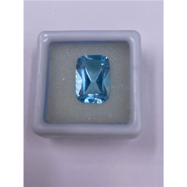 SWISS BLUE TOPAZ 9.04CT, 14.2 X 10.00 X 7.00MM, EMERALD CUT, IF LOUPE CLEAN CLARITY, BRAZIL