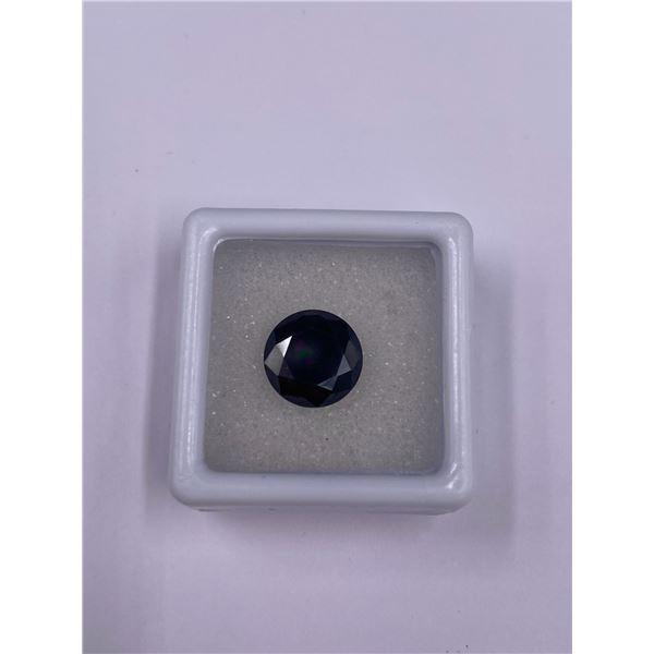 SPARKLING BLACK MOISSANITE 3.17CT, 10.04 X 5.72MM, BRILLIANT ROUND CUT, USA, UNTREATED