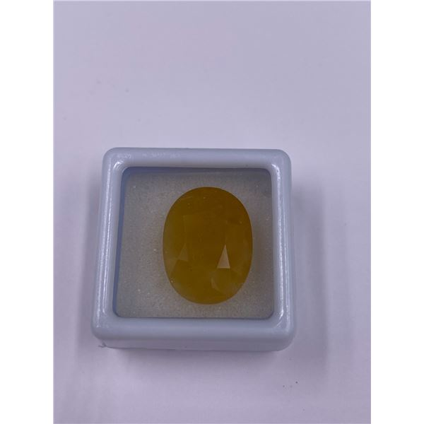 BIG YELLOW OPAL 11.87CT, 18.6 X 14.00 X 10.03MM, OVAL, VS CLARITY, MEXICO, UNHEATED AND UNTREATED