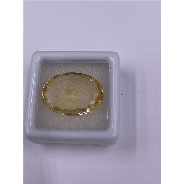 EXCEPTIONAL BIG CITRINE MASTER CUT 16.20CT, 20.63 X 15.09 X 7.58MM, OVAL CUT, LOUPE CLEAN CLARITY,