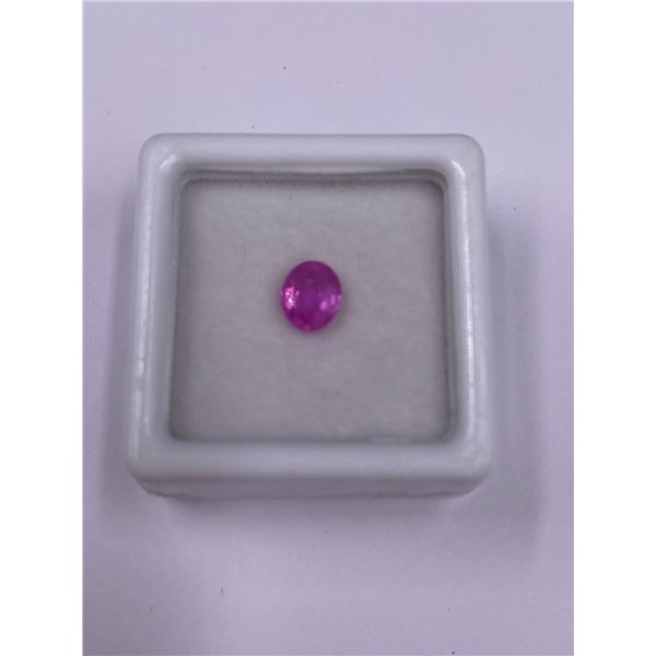 NATURAL PINK SAPPHIRE 0.87CT, 6.20 X 5.12 X 2.98MM, OVAL CUT, VVS CLARITY, MADAGASCAR, UNTREATED