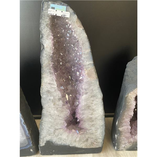 """AMETHYST GEODE CATHEDRAL RETAIL $5498, 29.38KG APPROX 9.5""""W X 15.5""""H"""
