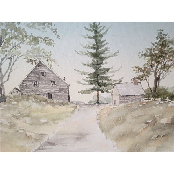 original watercolour signed (two sided)