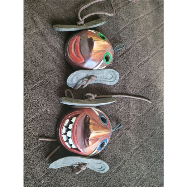 carved small masks