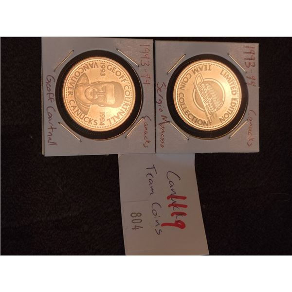 Canada team coins
