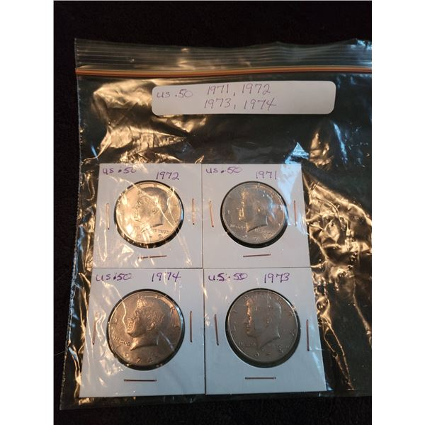 USA 50 cent pieces