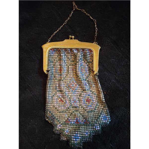 vintage chain mail evening bag