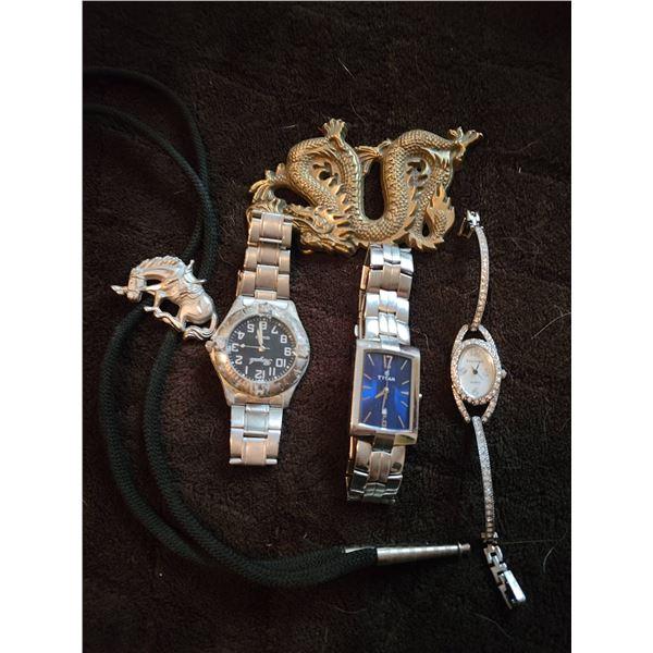 vintage jewelry lot bolero watches dragon belt buckle