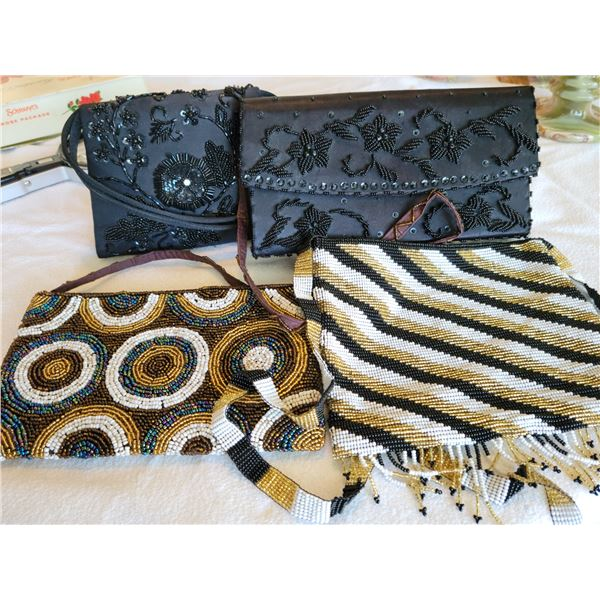 lot vintage beaded clutch purses