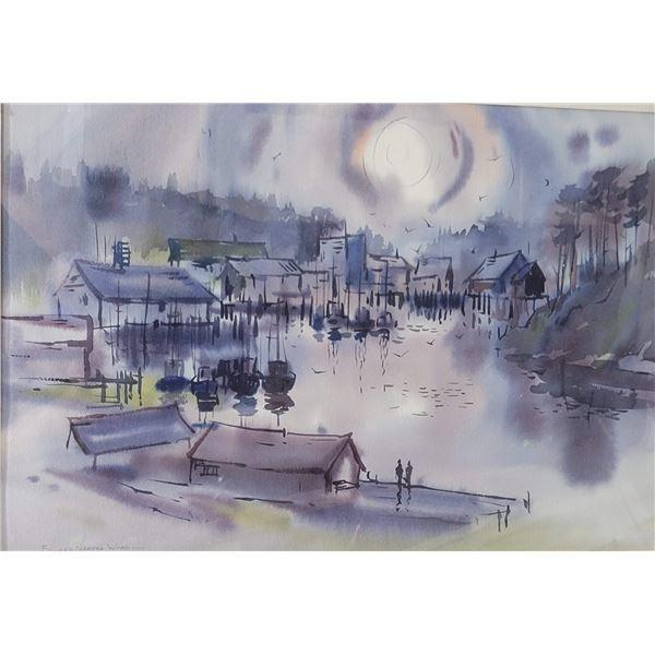 watercolor Original signed Edward California