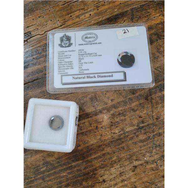 Natural Black Diamond 5.55 CTS