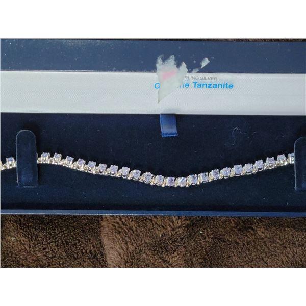 Tanzanite bracelet Sterling
