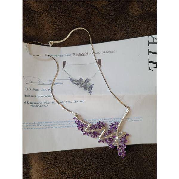 Natural Amythest Necklace