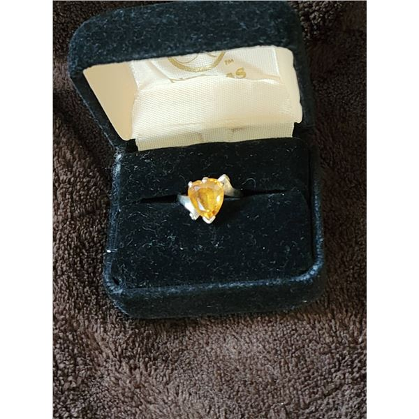 Topaz sterling ring size 5