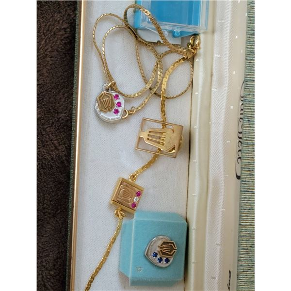 lot bracelet necklace pin commemorative genuine stones