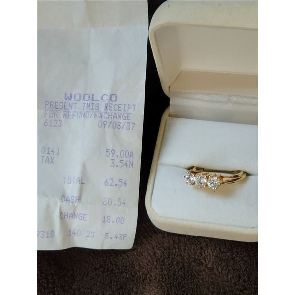 woolworths ring with receipt
