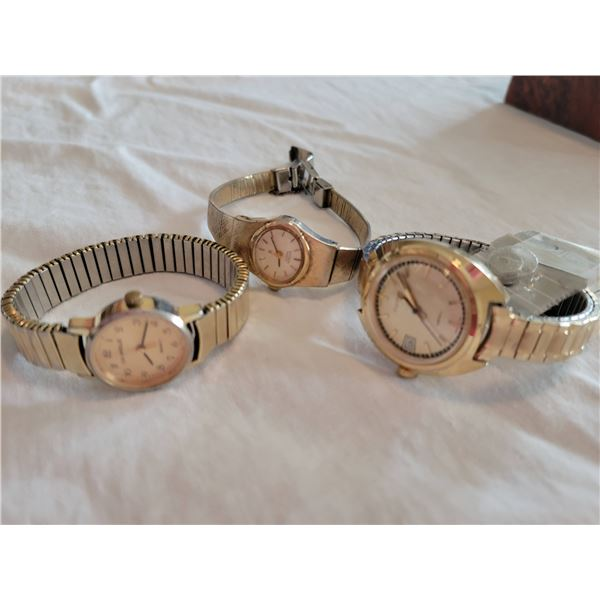 goldtone watch lot vintage