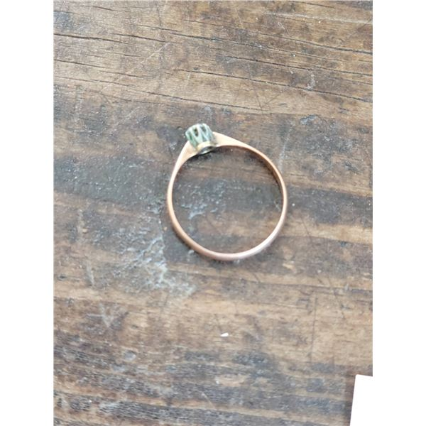 antique old mine diamond ring gold solitaire