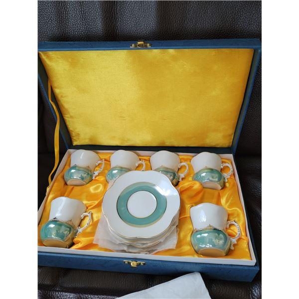 porcelain demi tasse set