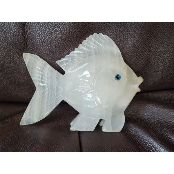 onyx fish carved