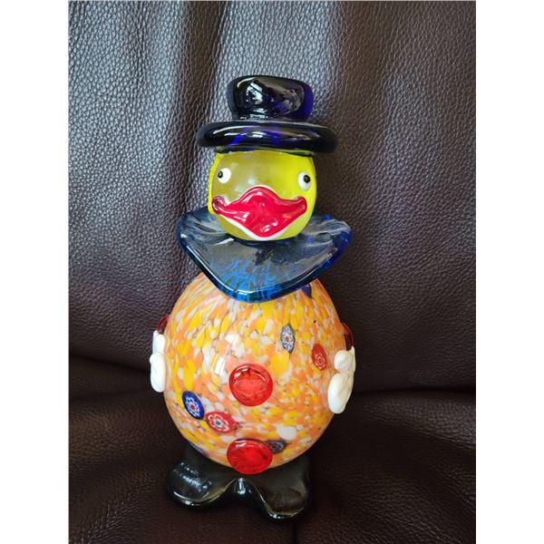 murano glass clown