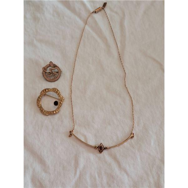 vintage goldtone lot jewelry