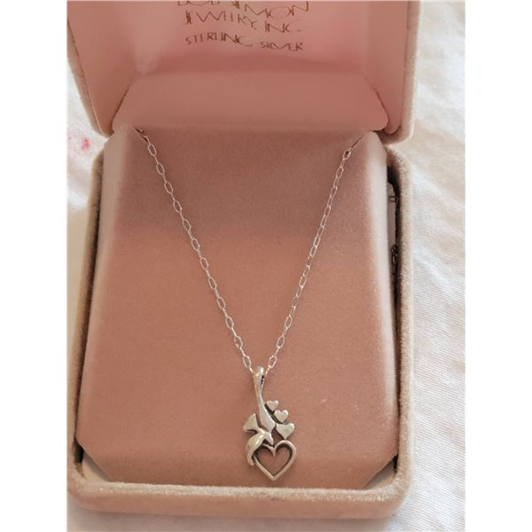 sterling neclace hearts