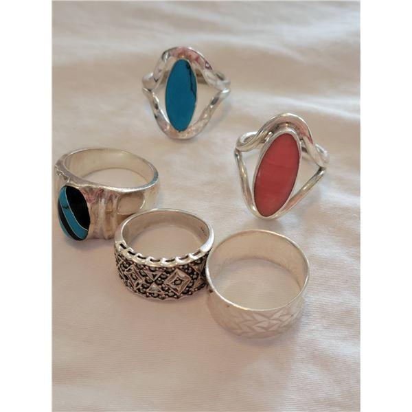sterling ring lot