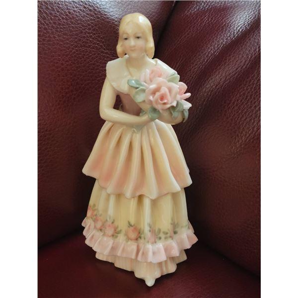 porcelain doll figurine N signed