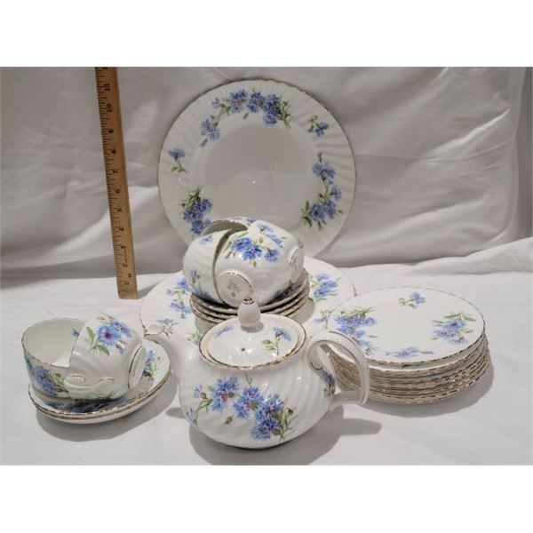 lot china blue floral adderly