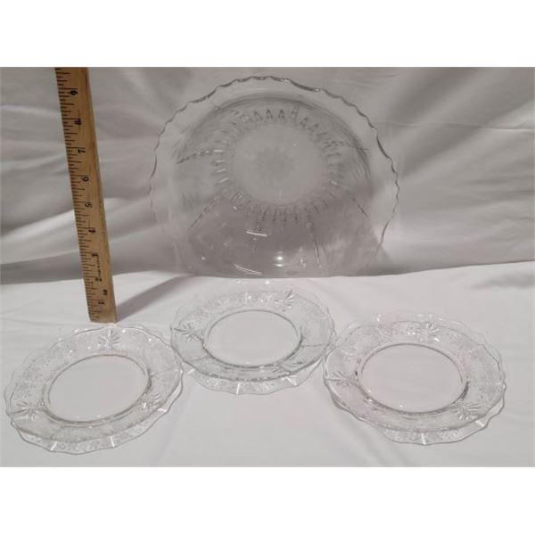 lot cornflower glass