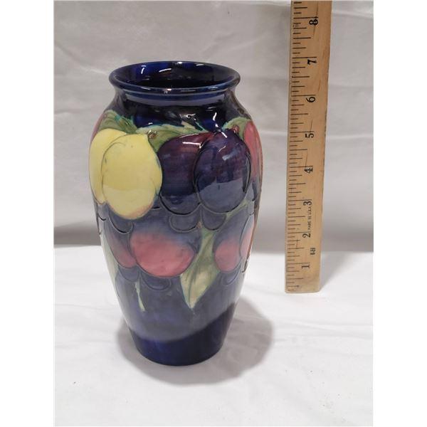 moorcroft cobalt vase