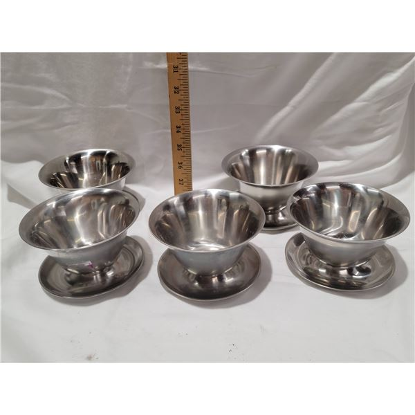 stainless steel plated bowls