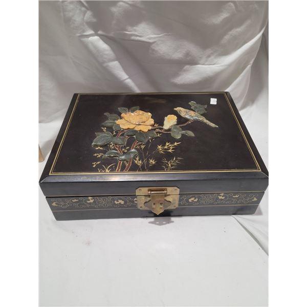 oriental inlaid jewelry box
