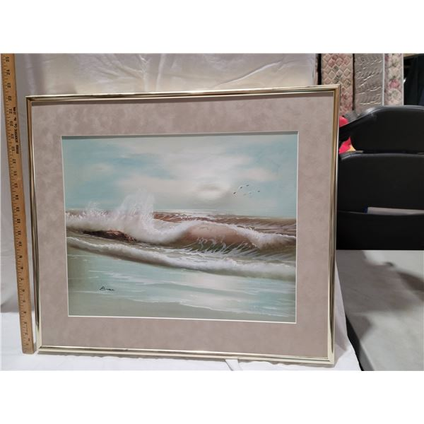 painting seascape signed
