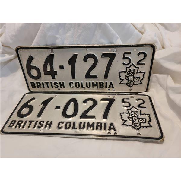 license plates set 52