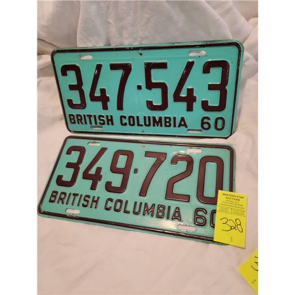 bc license plate 60