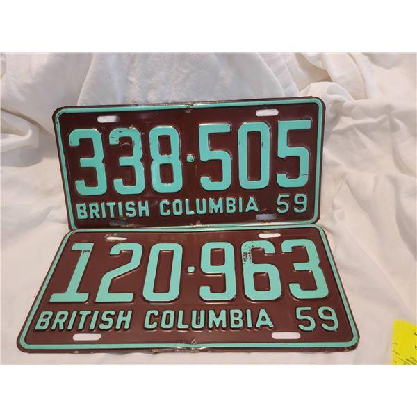 bc license plate 59