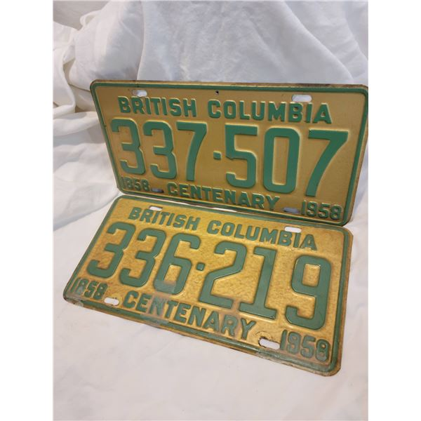 bc license plate 58 centenary