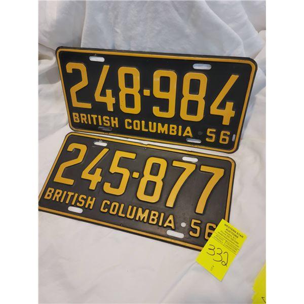 bc license  plate 56
